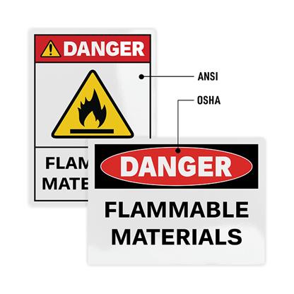 OSHA vs. ANSI Safety Sign Standards Comparison
